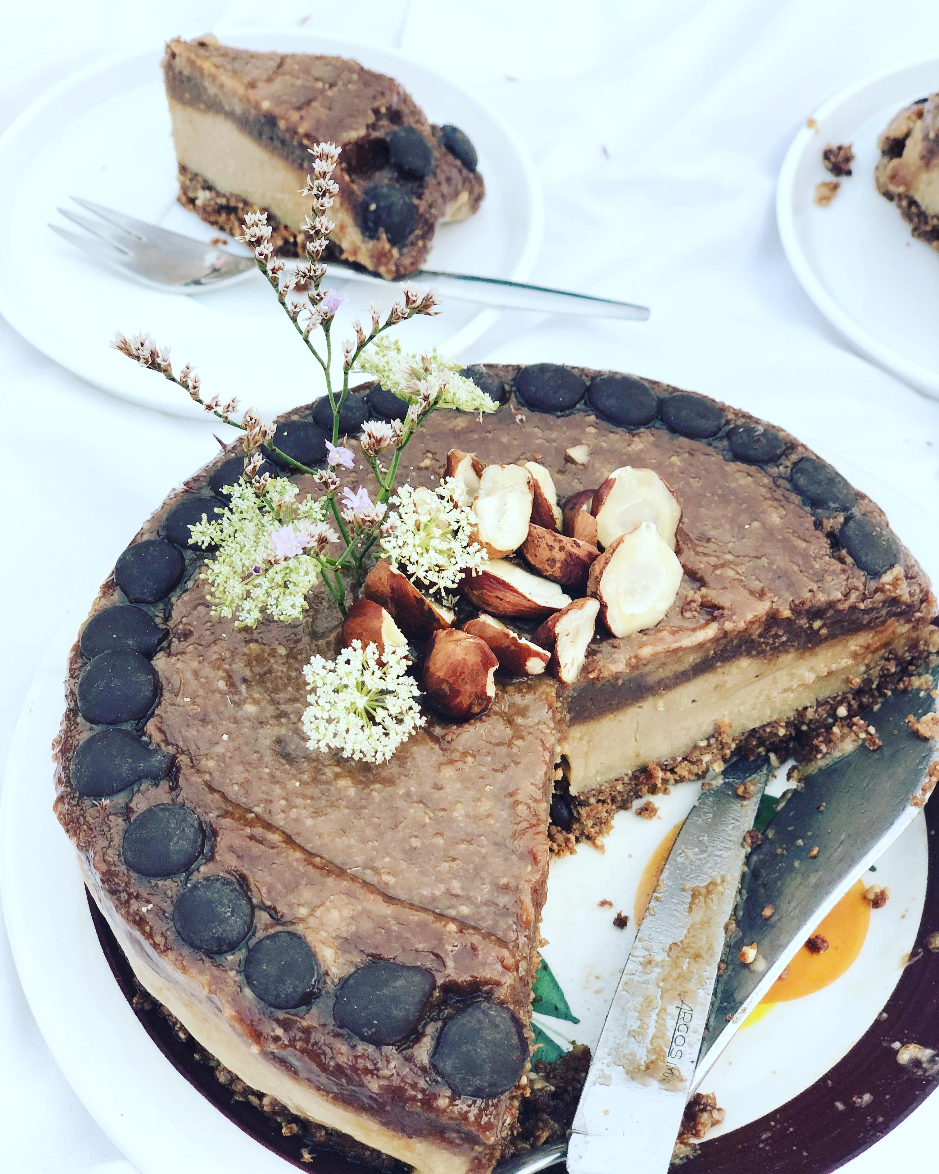 No-bake Cappuccino Chocolate Cheesecake