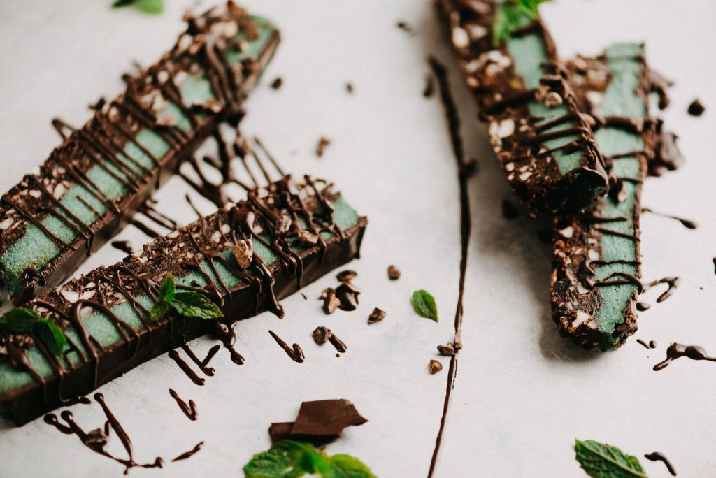 Minty Chocolate Slices