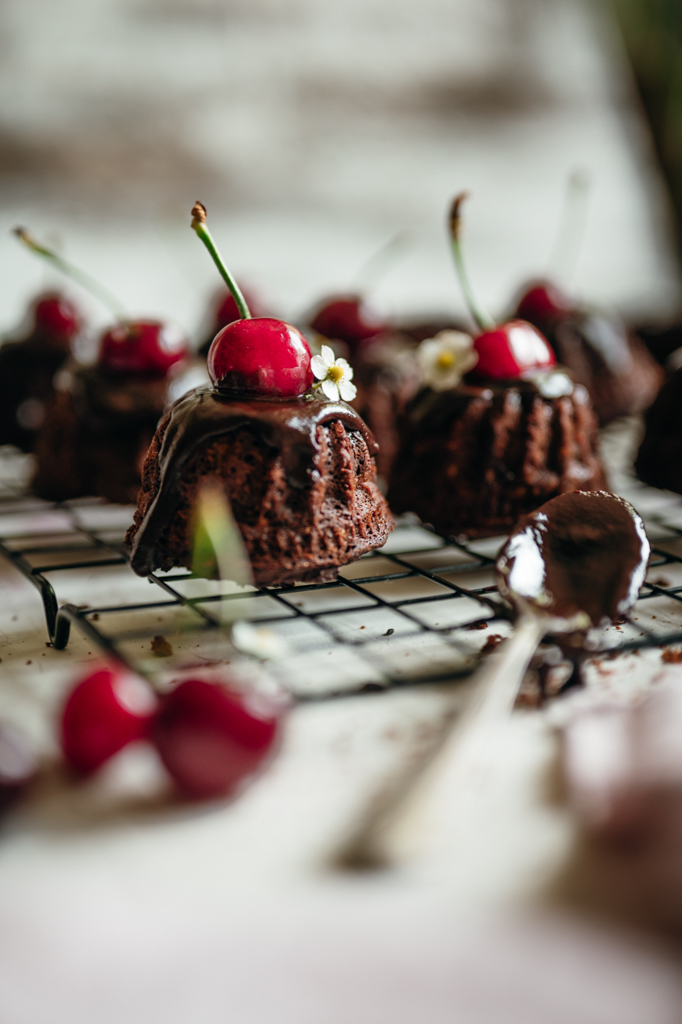 Cherry Dark Chocolate Cupcakes